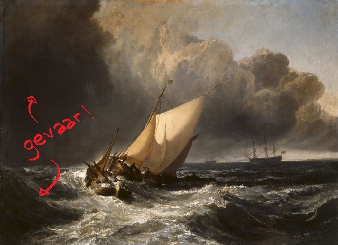 1801 - Dutch Boats in a Gale