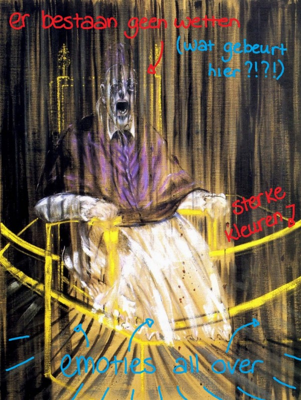 1953 - Francis Bacon, Studie naar Velazquez' 'Portret van Paus Innocentius X'